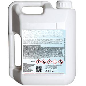 Produktbild Grisamethrin UNIVERSAL KONZENTRAT 5 Liter Kanister, Etikett Blau Weiß, Rückseite