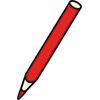 roter Bntstift, Bild dient als Icon